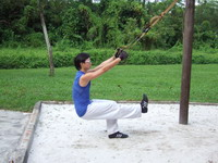TRX single leg squat